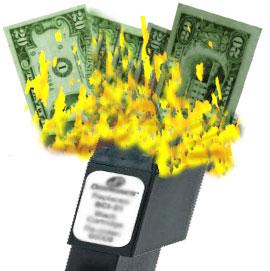 Inkjest burn money